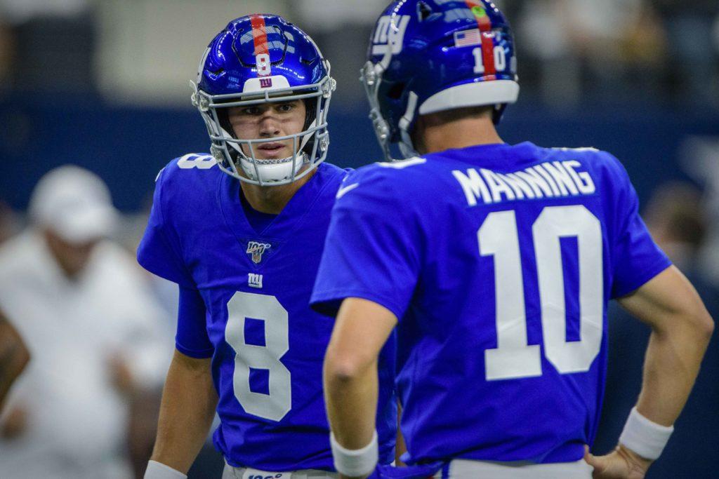 NFL: New York Giants, Eli Manning, Daniel Jones