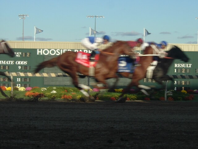 Action from Indiana Grand Racecourse