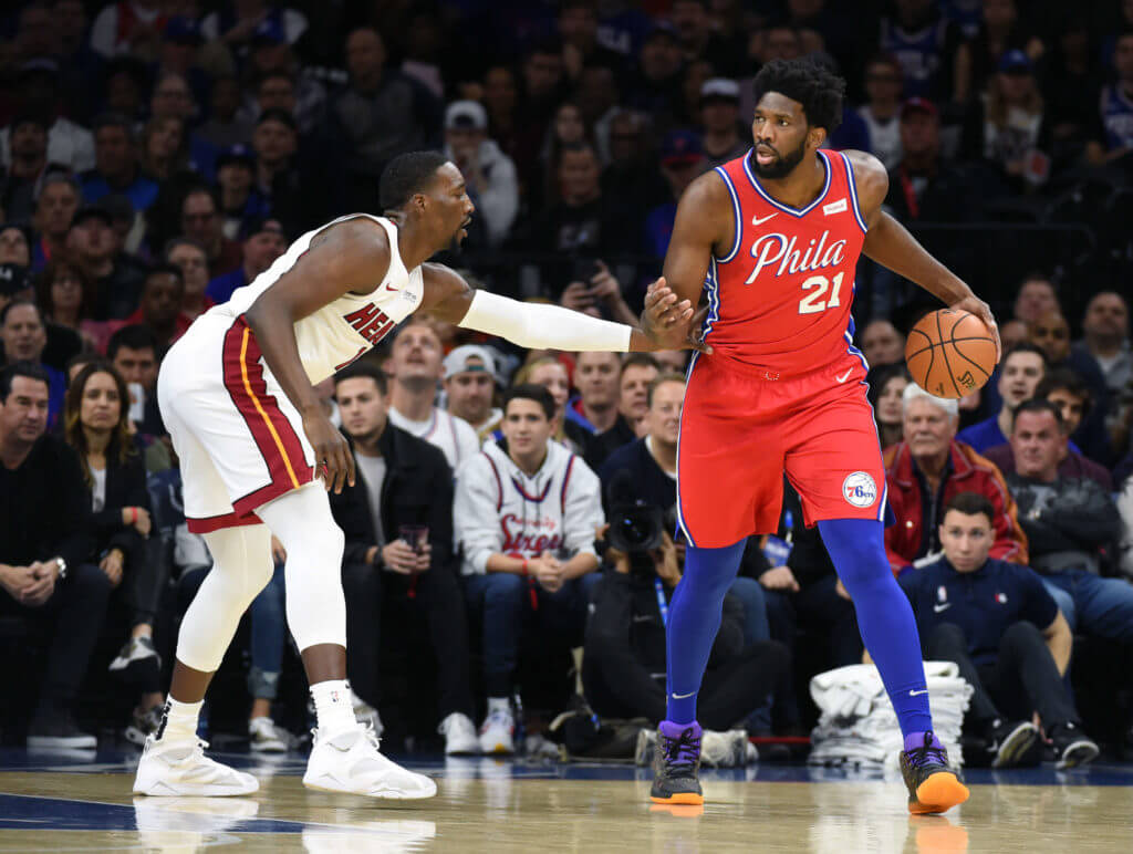 Bam Adebayo Joel Embiid Heat 76er's NBA Playoffs