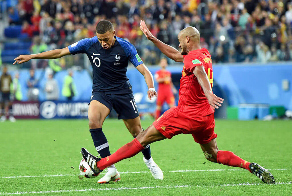 Kylian Mbappe Vincent Kompany FIFA World Cup