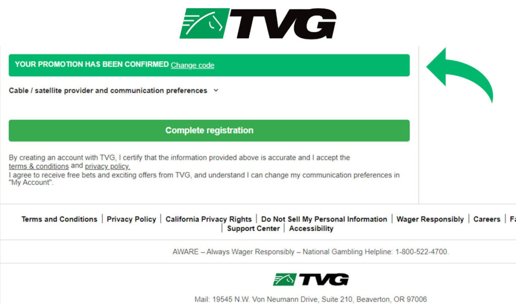How to use your TVG promo code